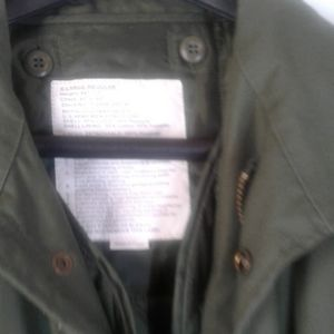 US Army men's field jacket with liner and hood.